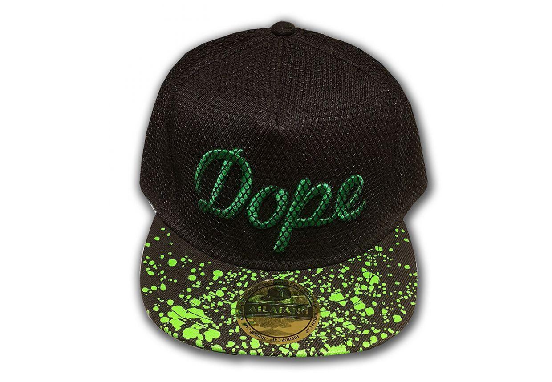 casquette-snapback-dope-noir-vert