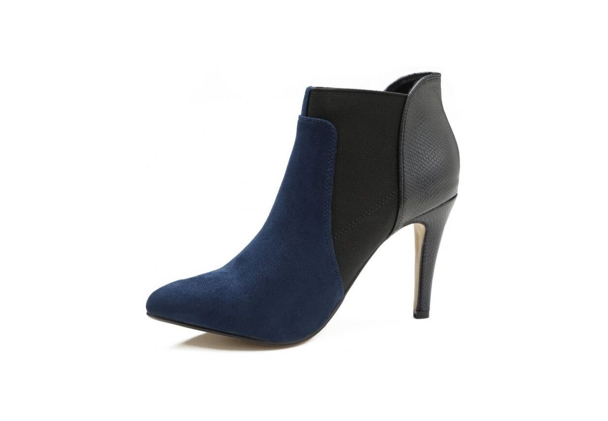 Boots-a-Talon-Fin-Aspect-Daim&Cuir
