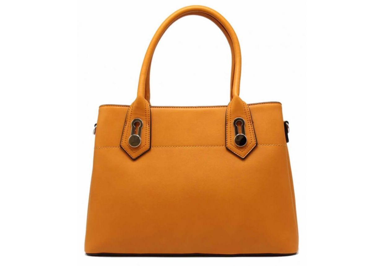 HAND BAG WOMEN'S LEATHER EFFECT WITH BANDOULIERE - TOM & EVA