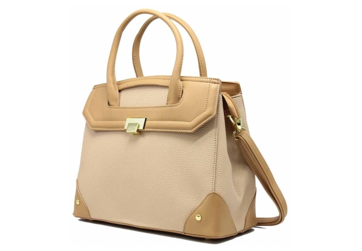 HAND BAG LEATHER GRAINED FEMALE - TOM & EVA